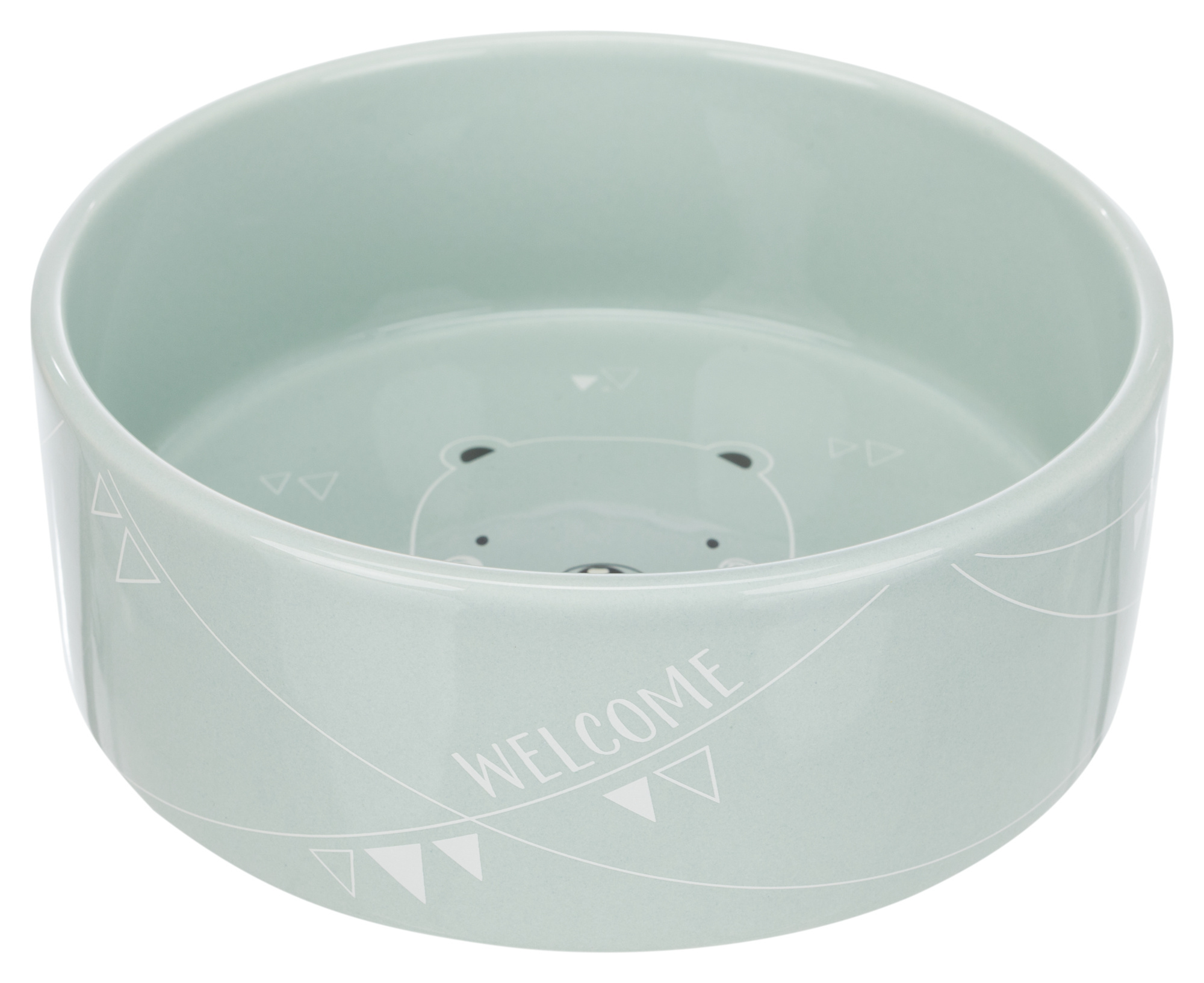 junior voer/waterbak , keramiek 0.3l