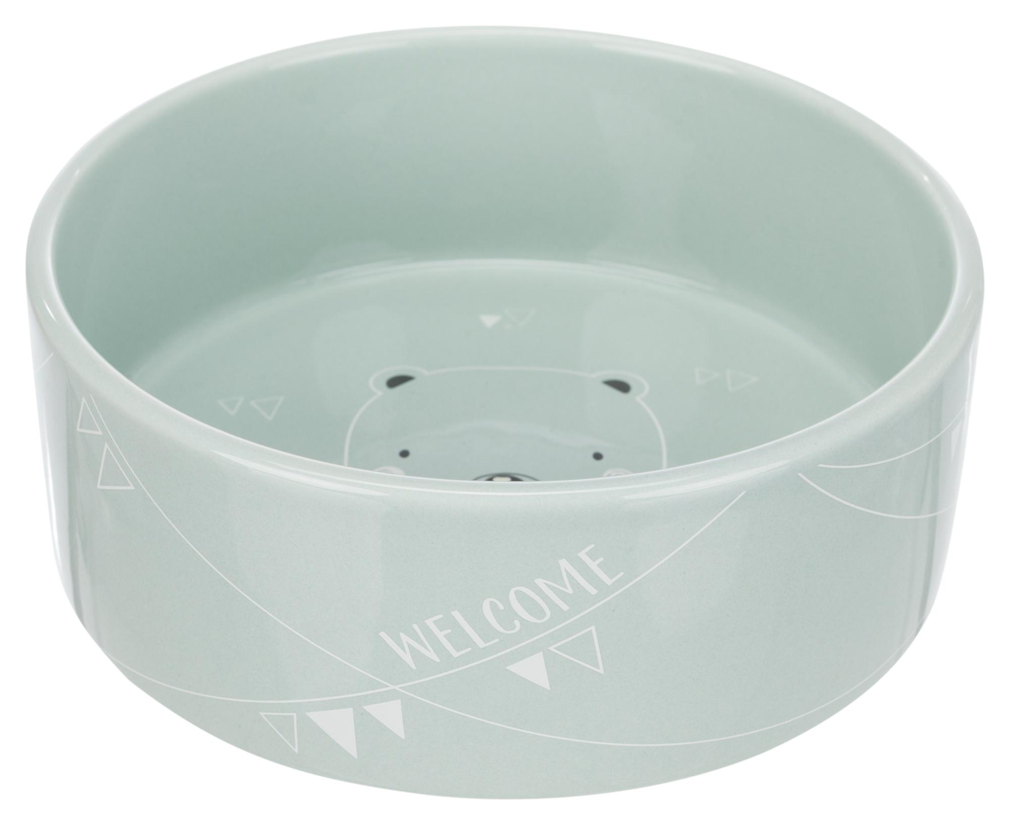 junior voer/waterbak , keramiek 0.8l