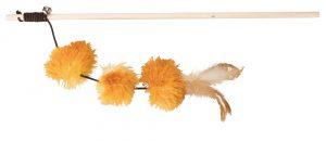 speelhengel pompomballen , hout/pluche , valeriaan 40cm