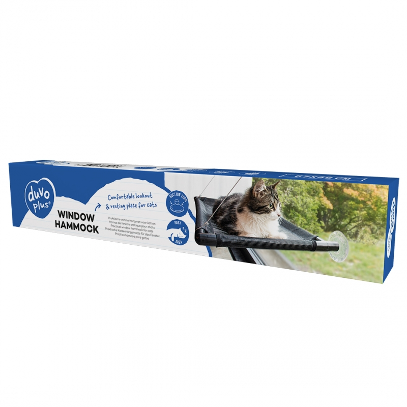 Vensterhangmat voor katten Zwart 66x40x2,5cm