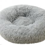 pluche donut grijs 60cm