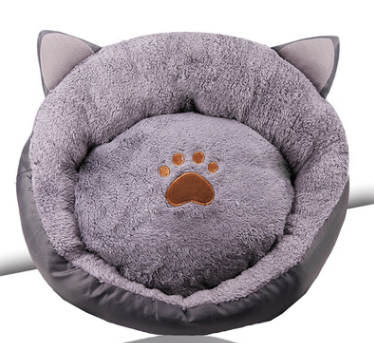 bohemia cat shaped paw bed 40x40