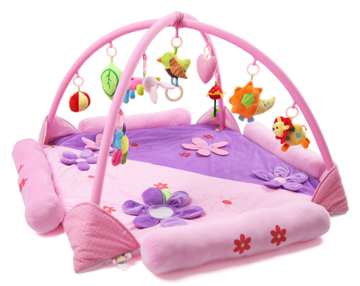 bohemia baby play roze 120x120x60