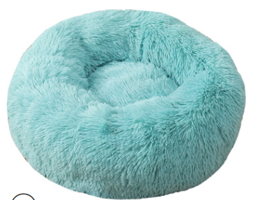 pluche donut bright blue 60 cm