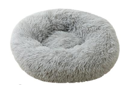 pluche donut grijs 100cm