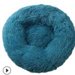 pluche donut navy blauw 60cm