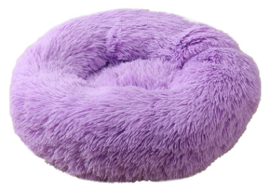 pluche donut lila paars 120 cm