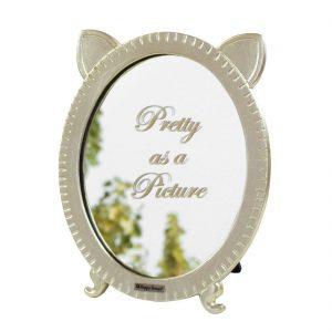 """Vrolijk spiegeltje met katten oortjes. Met de grappige tekst """"Pretty as a picture"""""""
