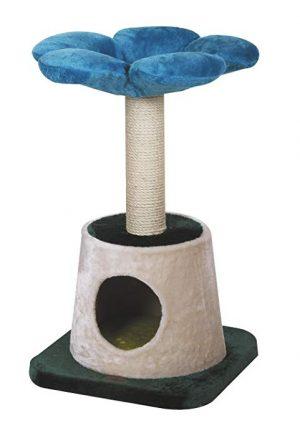 kittenpaal bloem blauw 45x45x79 cm jasmine