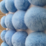 Bohemia balletje met lus blauw