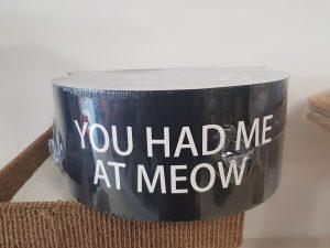 krabkarton zwart kat gezicht 36*36*15 cm