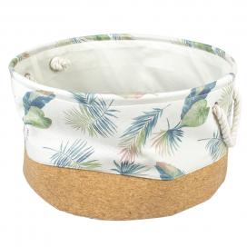 Palm cork & poly mand rond Meerkleurig