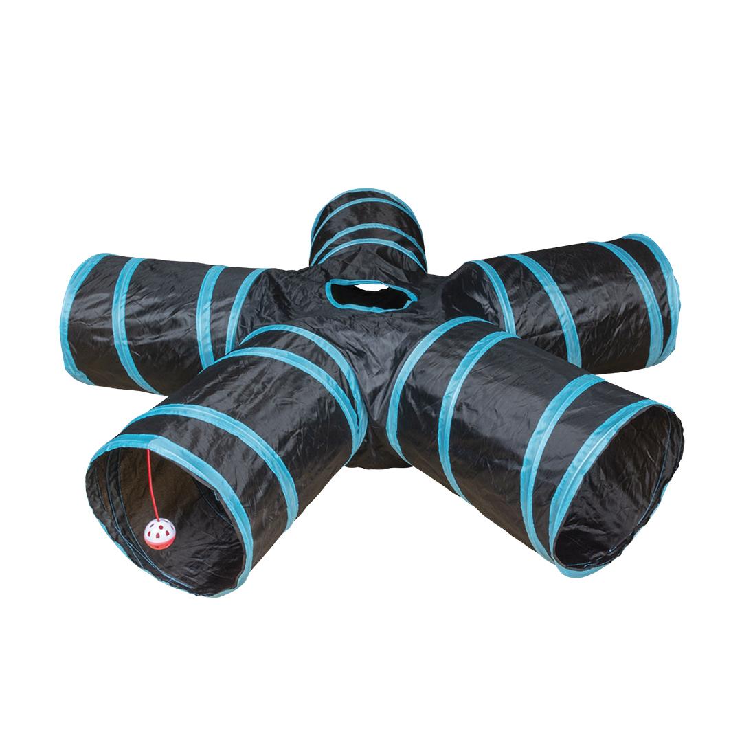 Speeltunnel star Blauw/zwart 100x25cm