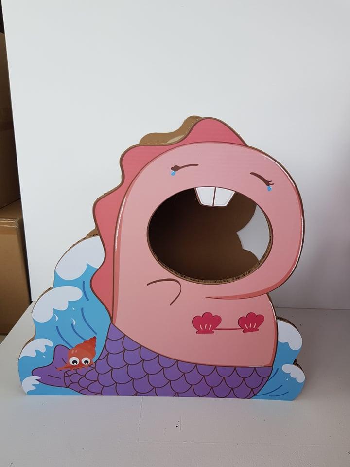 bohemia pink dino krabkarton speeltje