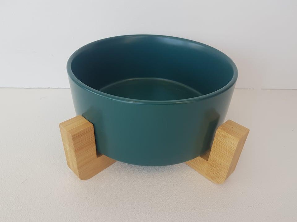 CatzWalk eetpot met staander groen