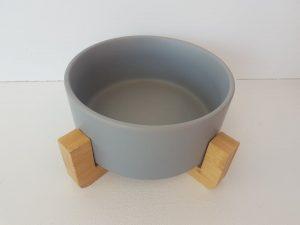 CatzWalk eetpot met staander grijs