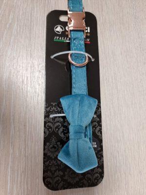 collar velour blue 1.5*24.5 - 35 cm