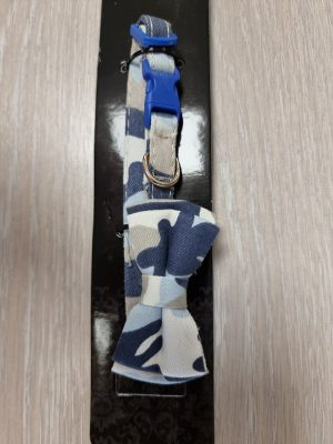collar camouflage bow 1*25cm