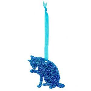 Glitter Cat 1 Christmas Decoration alle kleuren